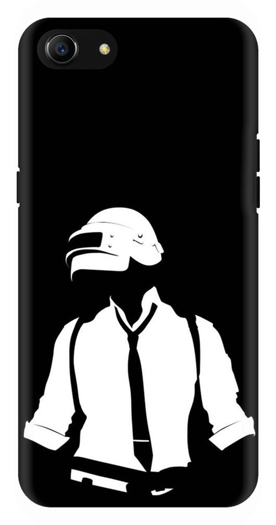 Black And White Pubg Character Back Case Cover for Oppo A83