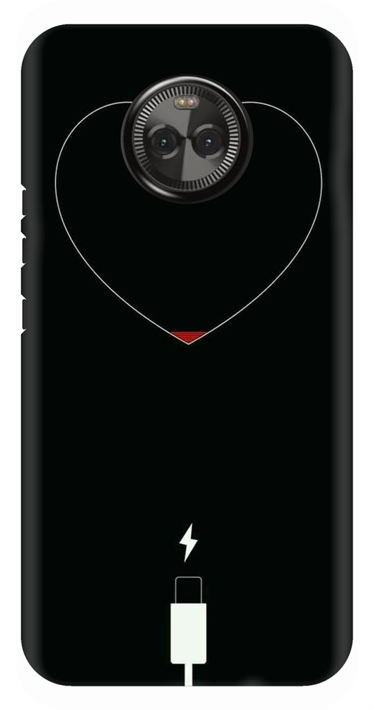 huge selection of cc5b2 44efa Charging Heart Quirky Back Case Cover for Motorola Moto X4