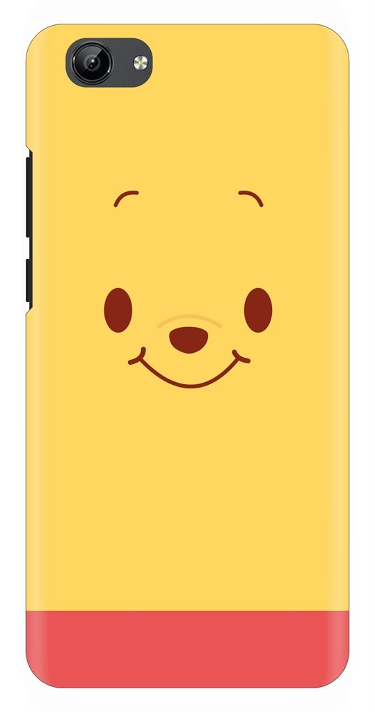 Cute Smily Yellow Face Back Case Cover for Vivo Y71