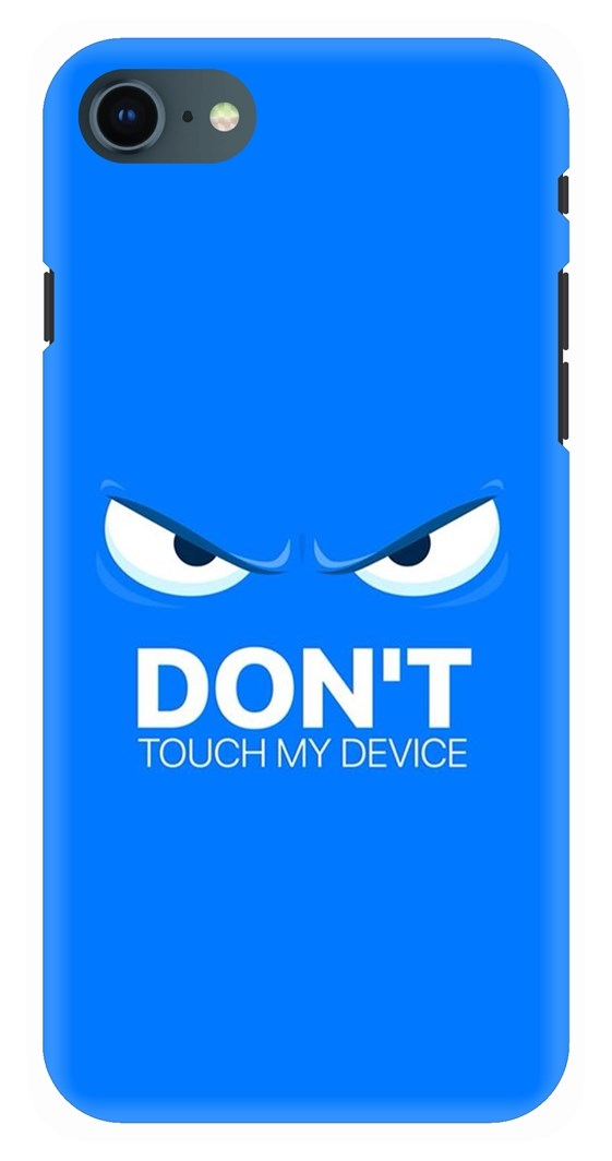online retailer 6cf4d f7f33 Don't Touch My Phone Quirky Blue Canvas Back Case Cover for Apple ...