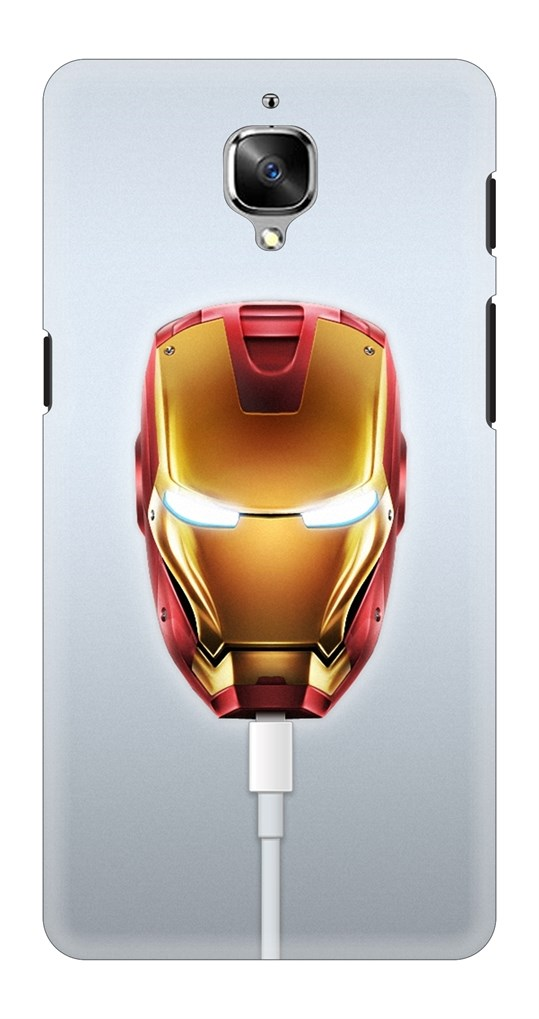 info for 2fe93 3cb80 Photograph Of Iron Man Head Back Case Cover for OnePlus 3T