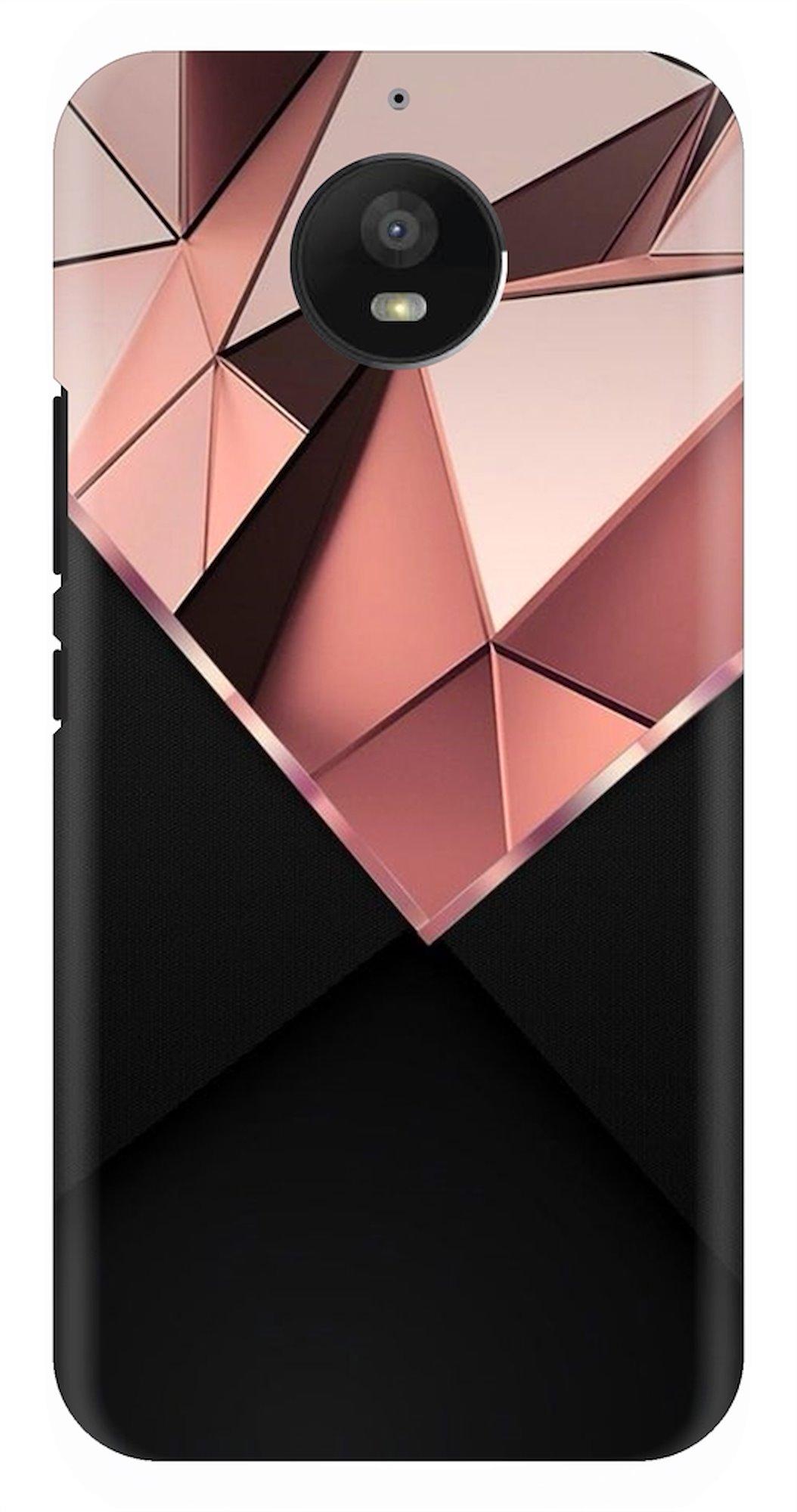 3D Diamond On Black Background Back Case Cover for Motorola Moto E4 Plus